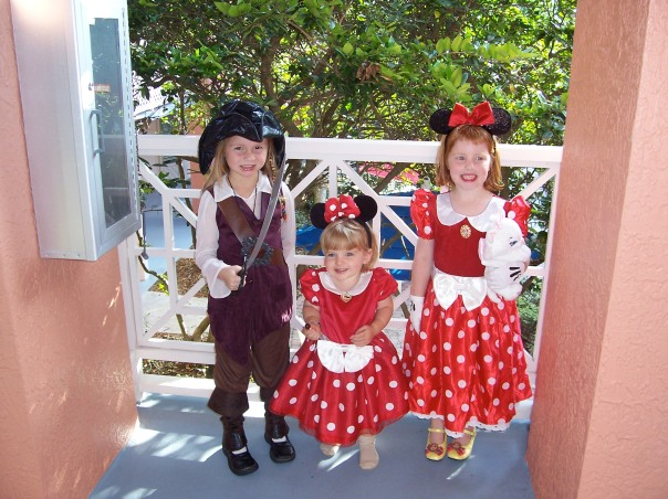 Girls at Disney for Halloween
